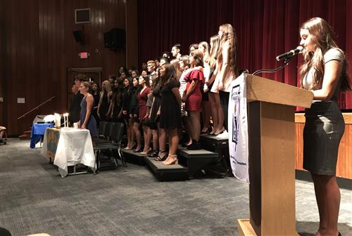Ridgefield Memorial High School National Honors Society Induction Ceremony