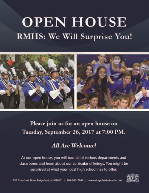 RMHS Open House: We will surprise you.